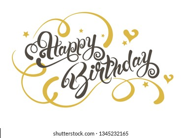 Happy Birthday. Lettering design