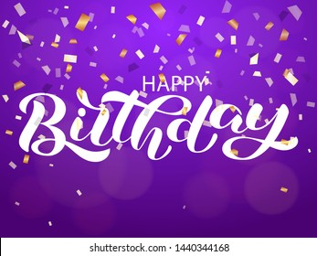 Happy birthday lettering. Vector illustration for banner or poster