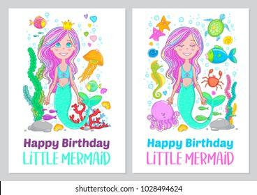 Little Mermaid Color Images Stock Photos Vectors Shutterstock