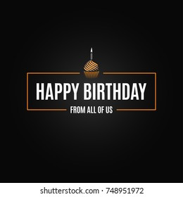 happy birthday logo design background