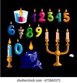 Happy birthday logo and party symbols