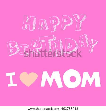happy birthday mom vector mother stock vector royalty free