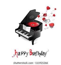 Happy Birthday Music Images, Stock Photos & Vectors