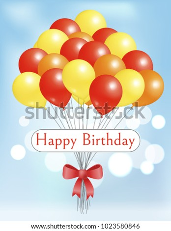 Happy Birthday Postcard Balloons Big Bundle For Party Decorations Birthdays And Anniversaries Balloon Bunch