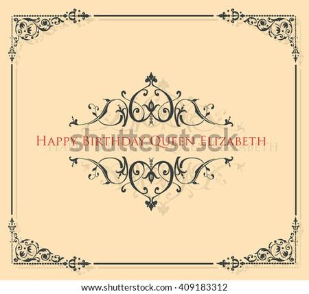 Happy Birthday Queen Elizabeth Stock Vector Royalty Free 409183312