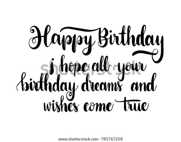 Happy Birthday quote . Calligraphy Hand Lettering Vector
