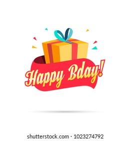 Happy Birthday Shopping Gift Box