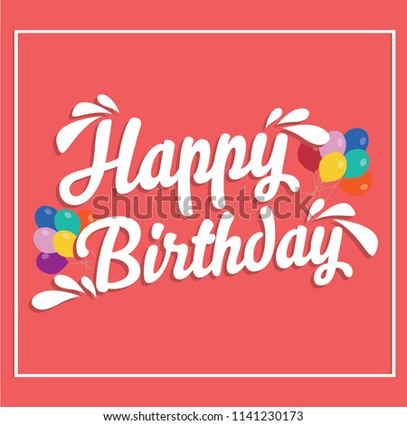 happy birthday signage stock vector royalty free 1141230173