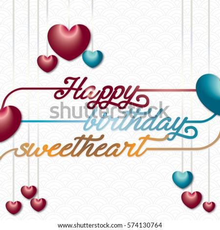 Happy Birthday Sweetheart Stock Vector Royalty Free 574130764