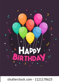 Happy Birthday template vector illustration