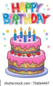 Happy birthday thematics image 1 - eps10 vector illustration.