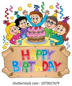 Happy birthday thematics image 6 - eps10 vector illustration.