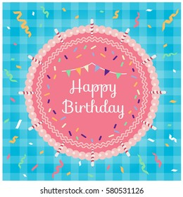 Birthday Cake Top View Images Stock Photos Vectors Shutterstock