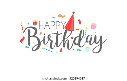 Happy Birthday Images Stock Photos Vectors