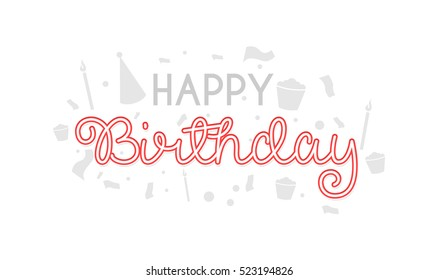 Happy Birthday typographic vector design for greeting cards, Birthday card, invitation card. Isolated birthday text, lettering composition. Vector Illustration eps.10