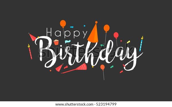 Vector De Stock Libre De Regalías Sobre Feliz Cumpleaños