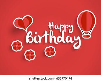 Lovely Happy Birthday My Love Typography Image Vectorielle De Stock