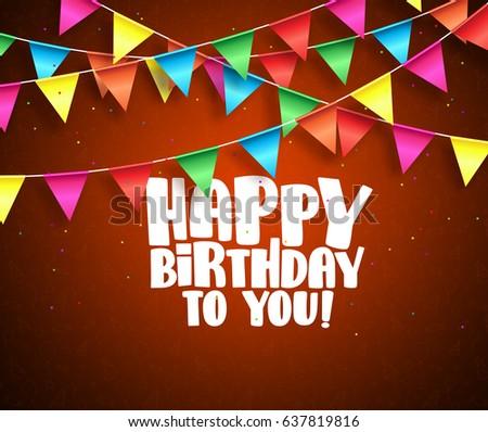 happy birthday vector banner design birthday stock vector royalty