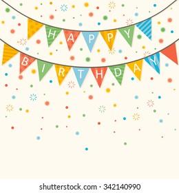 Happy Birthday - vector birthday card eps10