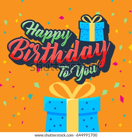 Happy Birthday Vector Design For Greeting Cards Card Invitation