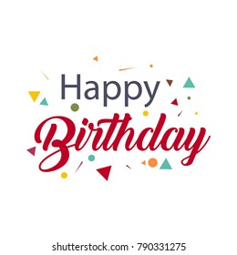 Happy Birthday Vector Template Design