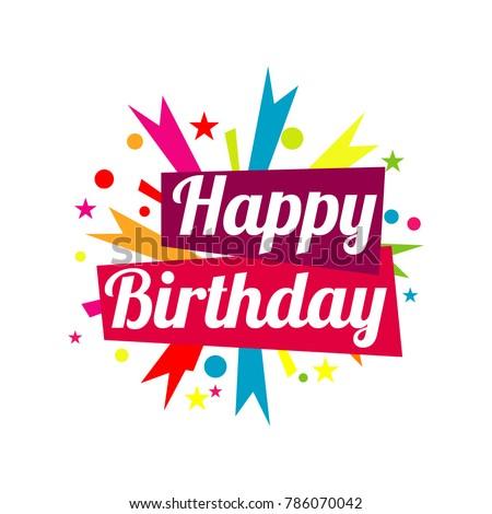 Happy Birthday Vector Template Design Stock Vector Royalty Free