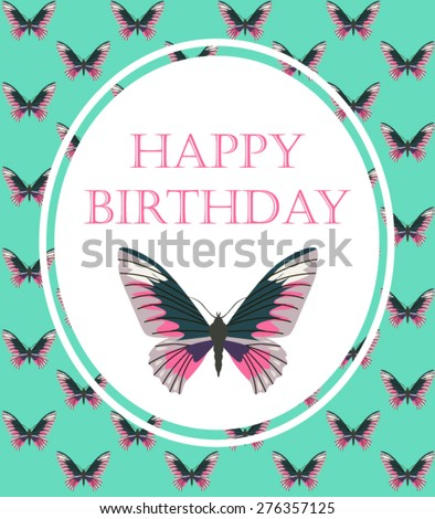Happy Birthday Vintage Card Stock Vector Royalty Free 276357125