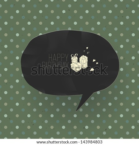 Happy Birthday Vintage Card Vector Stock Vector Royalty Free
