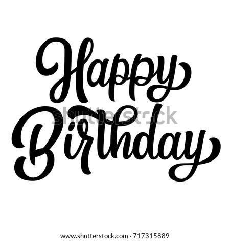 happy birthday fancy Happy Birthday Vintage Hand Lettering Fancy Stock Vector (Royalty  happy birthday fancy
