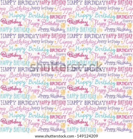 Happy Birthday Wishes Background Pattern Vector Vector De Stock