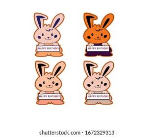Happy birthday wishes bunny