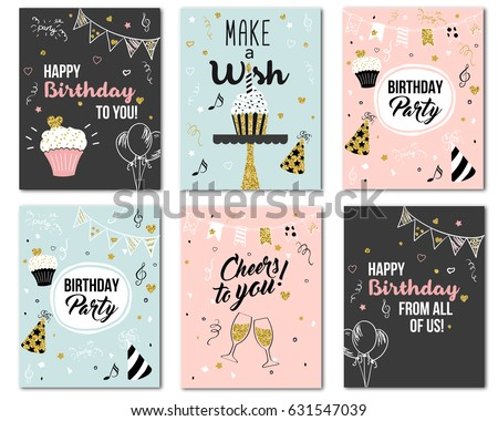 happy birthday to you from all of us cheers to you greeting card and