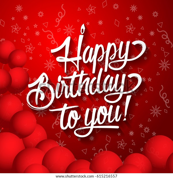 happy birthday you lettering text vector stock vector