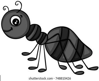 Happy black ant