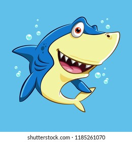 Happy Blue Shark