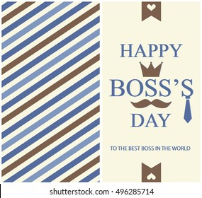Happy Boss Day Greeting card or background. vector illustration.