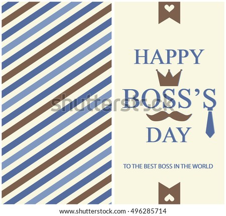 Happy boss day greeting card background stock vector royalty free happy boss day greeting card or background vector illustration m4hsunfo