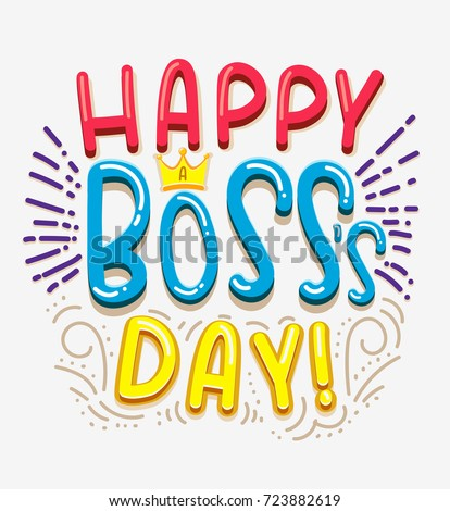 Happy boss day inspirational quote doodles stock vector royalty happy boss day inspirational quote with doodles in comic style bosss day greeting card m4hsunfo