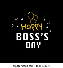 happy boss's day celebration card. thumbnail template vector