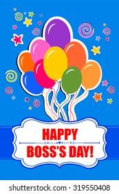 Happy Boss's day. Vector Illustration