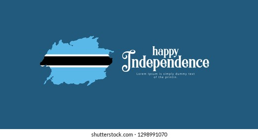 Happy Botswana Independence Day Vector Template Design Illustration