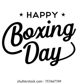 Happy Boxing Day Banner, Vector