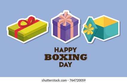 Happy boxing day design