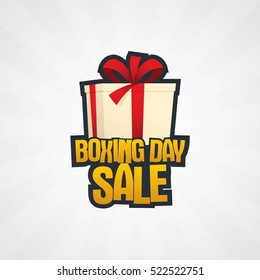 Happy Boxing Day sale. Vector royalty free stock illustration for greeting card, promotion, poster and banner.
