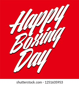 happy boxing day text letter draw sale