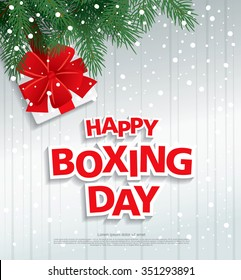 Happy Boxing Day. Vector illustration