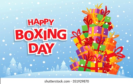 Happy Boxing Day! Vector illustration