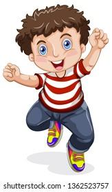 A happy boy character illustration