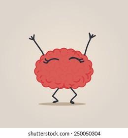 Happy Brain character