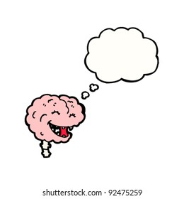 happy brain with thought bubble
